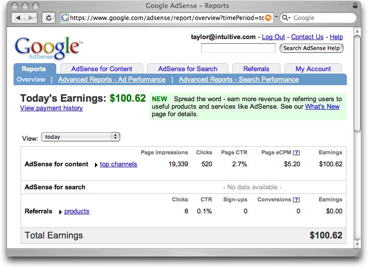 Blog para Ganar Dinero con Adsense